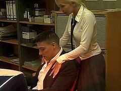 Blowjob and Anal In The Office For Blonde Secretary Lisa Lee
