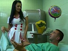 Insatiable Euro Nurse Aletta Ocean Deepthroats and Enjoys Anal Sex