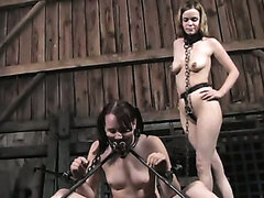 Fucked up BDSM game in a lesbo way will make your cock explode