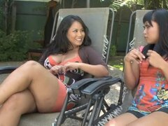 Jessica Bangkok and Yuki Mori drive some dude crazy with a hot blowjob