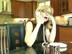 Nina Hartley the naughty blonde gets fucked by her son in law