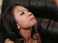 Asian brunette sexy bitch is fucked by her lover. Tasty video