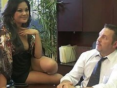 Kaylani Lei and Chanel Preston Fucking Their Boss For a Raise