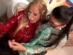 Drunk And Cum Soaked Queens Nessa Devil and Stacy Silver