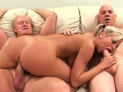 Bree Olson Fucks Two Old Men In An Amazing Threesome