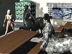 Chick Getting Done By Two Minotaurs in 3D Porno