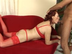 Any the redhead mature babe gets fucked and facialed