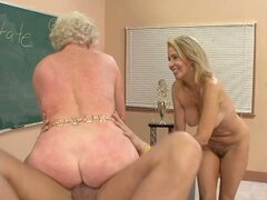 MILF Mrs Jewell and her younger friend Erican Lauren fuck in threesome