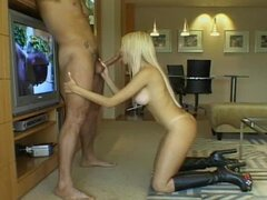 Scott Parker fucks pretty blonde Shellen and cums on her face