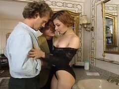 An Amazing Threesome With A Slutty Redhead