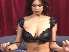 Black Latex Outfit Striptease Then Blowjob for Tera Patrick
