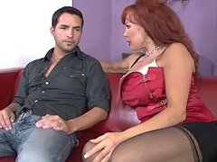 Sexy Vanessa the slutty mature babe gets fucked by her son in law