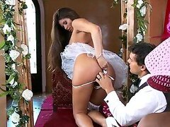 Big Breasted Madelyn Marie Sucking and Fucking in Her Porno Wedding