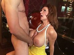 Busty Redhead MILF Teaching a Guy How to Have Anal Sex