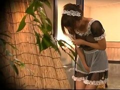 Sexy Asian Maid In a Male Section of the Spa
