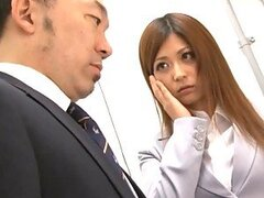 Haruki Sato Rides His Husband's Hard Cock In The Office