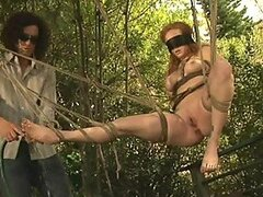 Submissive Anal Redhead Audrey Hollander Gets Tied Up and Fucked