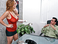 Sienna ordered a new vibrator but it broke down before she got the chance to get off. She called the company where she bought it from but no one seems to give a fuck. She won't let them get away with it So she goes to talk to the company's manager and dem