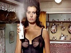 World's Hottest Vintage Celebrity Sophia Loren Wearing Tight Lingerie