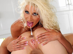 Puma Swede fisted in kitchen