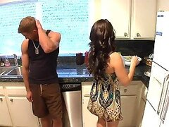 Horny housewife Mrs. West gets her guest go wild