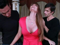 Slutty cougar Darla Crane gets a double serving of young cocks