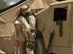 The Beautiful Kirsten Price Fucking a Soldier By a Humvee