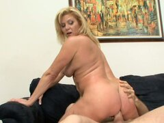 Tough anal fuck with mature blondie slut