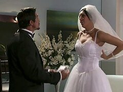 Busty Bride Dylan Ryder Fucking Her New Husband with Her Dress On