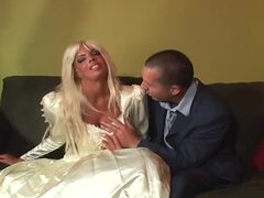 Dude Gets Cuckolded On His Wedding Day by a Horny Blonde Bride