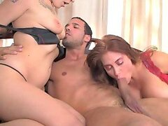 Carlo Carrera gets his dick unforgettably sucked by two hot sluts