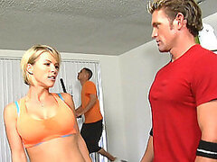 Sexy Gym Instructor Fucking In Front Of Public Gym Members