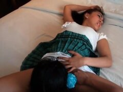 Filipina girls in cock sharing threesome