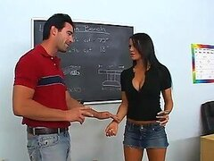 Gorgeous Brunette Fucks Her Shop Class Teacher