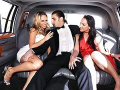 Sabrina Sweet and Aleksa Diamond get really impressed by Zenza Raggi's limo. So impressed, Sabrina and Aleksa start sucking Zenza's big cock and let him fuck them in the ass while they lick each other's juicy cunts. Watch this fancy hardcore anal threesom