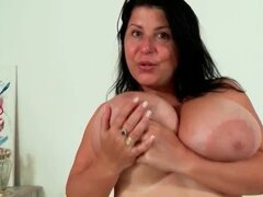Fat girl with big sexy natural tits