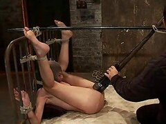 Gorgeous Slags Tied Up While Their Clits & Pussies Are Dominated