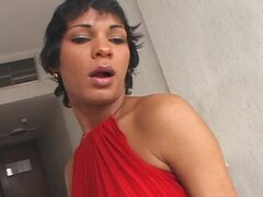 Guy gives a blowjob to tranny and gets ass fucked