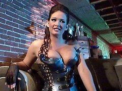 Spectacular Anal Brunette Tory Lane Gets Ass Fucked In Latex Lingerie