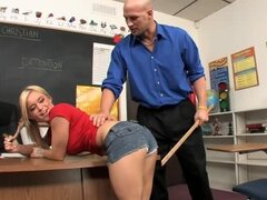 Sweet student on teacher action