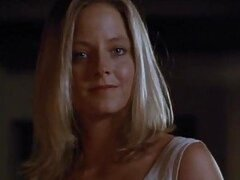 Beautiful Hot Blonde Jodie Foster Wears Sexy Black Stockings